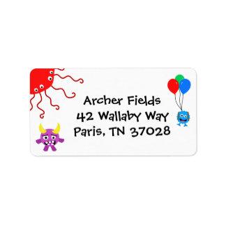 Etiquetas de endereço do partido do monstro etiqueta de endereço