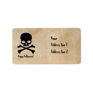 Etiquetas de endereço do pergaminho do Dia das Bru Etiqueta De Endereço