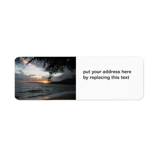 Etiquetas de endereço do por do sol etiqueta endereço de retorno