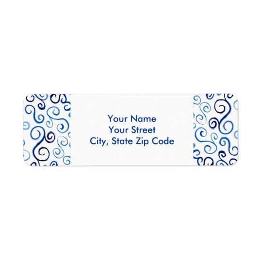 Etiquetas de endereço do remetente abstratas das etiqueta endereço de retorno