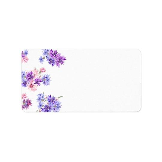 Etiquetas de endereço do remetente: arte floral etiqueta de endereço