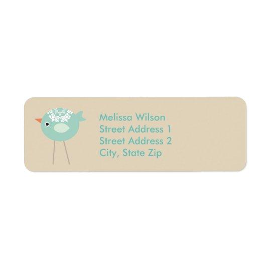 Etiquetas de endereço do remetente azuis altas de etiqueta endereço de retorno