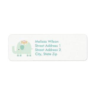 Etiquetas de endereço do remetente azuis bonito do