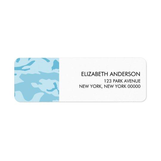 Etiquetas de endereço do remetente azuis da camufl etiqueta endereço de retorno