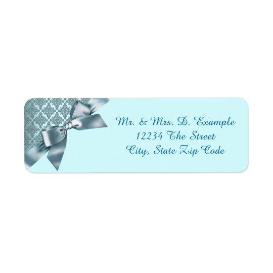 Etiquetas de endereço do remetente azuis do