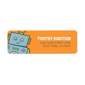 Etiquetas de endereço do remetente bonitos do robô