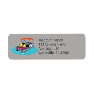 Etiquetas de endereço do remetente cinzentas do