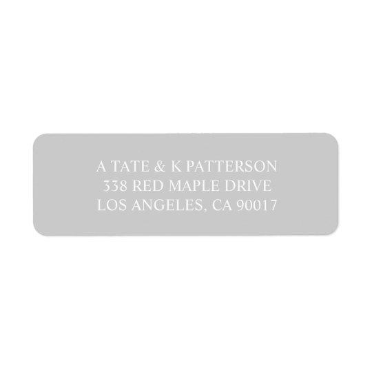 Etiquetas de endereço do remetente cinzentas etiqueta endereço de retorno
