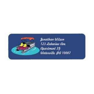 Etiquetas de endereço do remetente coloridas do