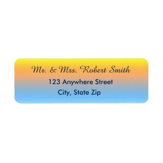 Etiquetas de endereço do remetente com cores da etiqueta endereço de retorno