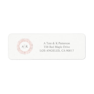 Etiquetas de endereço do remetente cor-de-rosa