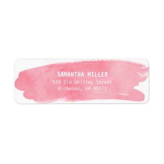 Etiquetas de endereço do remetente cor-de-rosa da