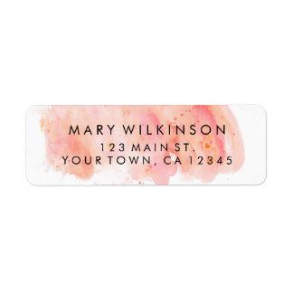 Etiquetas de endereço do remetente cor-de-rosa do