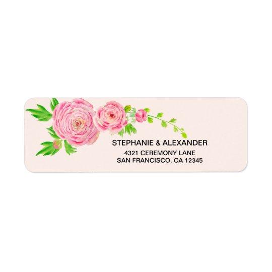 Etiquetas de endereço do remetente cor-de-rosa do etiqueta endereço de retorno