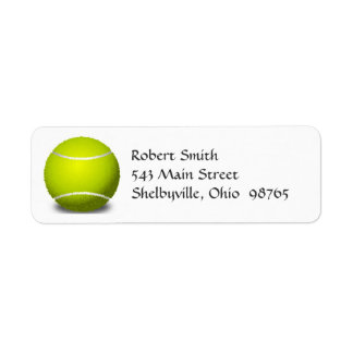 Etiquetas de endereço do remetente da bola de