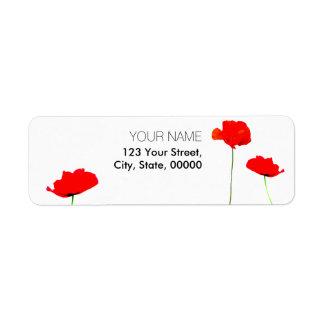 Etiquetas de endereço do remetente da coleção 03 etiqueta endereço de retorno