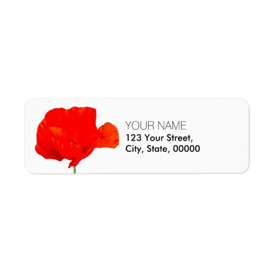Etiquetas de endereço do remetente da coleção 06 etiqueta endereço de retorno