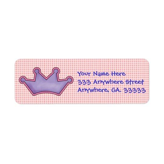 Etiquetas de endereço do remetente da coroa etiqueta endereço de retorno