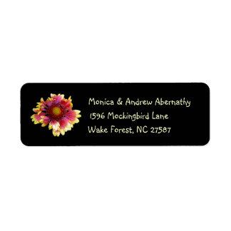 Etiquetas de endereço do remetente da flor geral etiqueta endereço de retorno