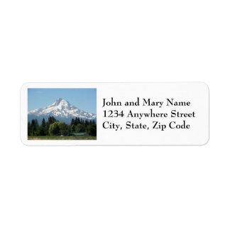 Etiquetas de endereço do remetente da foto da capa