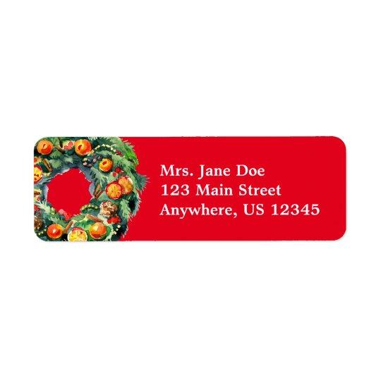 Etiquetas de endereço do remetente da grinalda do etiqueta endereço de retorno