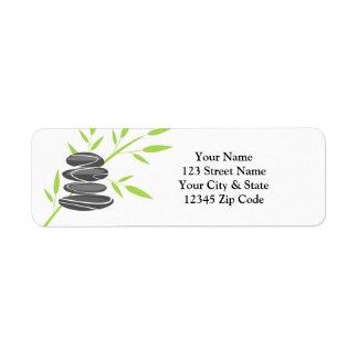 Etiquetas de endereço do remetente da pilha da