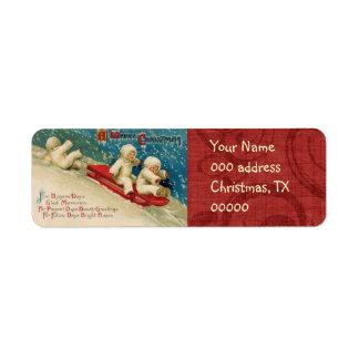 Etiquetas de endereço do remetente das crianças do etiqueta endereço de retorno