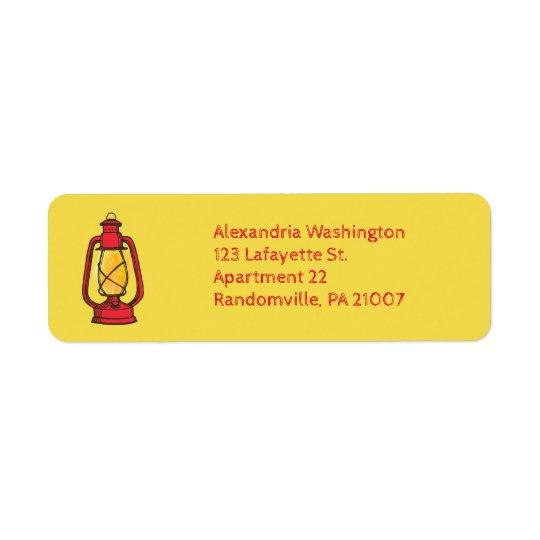 Etiquetas de endereço do remetente de acampamento etiqueta endereço de retorno