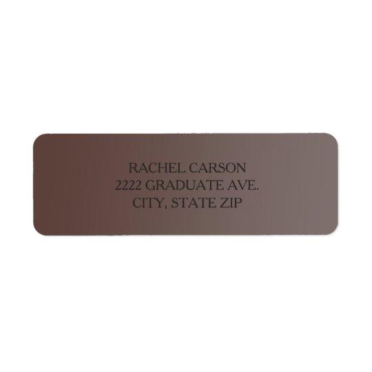 Etiquetas de endereço do remetente de Brown Ombre Etiqueta Endereço De Retorno