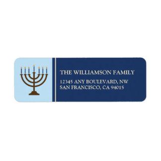 Etiquetas de endereço do remetente de Hanukkah