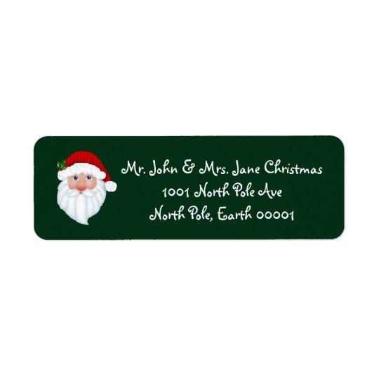 Etiquetas de endereço do remetente de Papai Noel