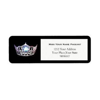 Etiquetas de endereço do remetente de prata da etiqueta endereço de retorno