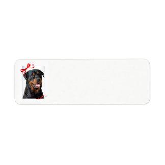 Etiquetas de endereço do remetente de Rottie