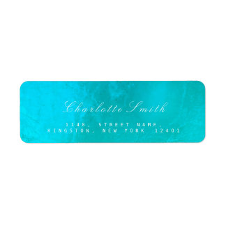 Etiquetas de endereço do remetente de vidro do