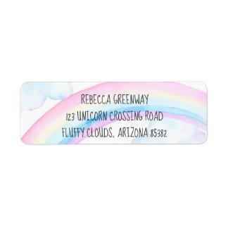 Etiquetas de endereço do remetente do arco-íris