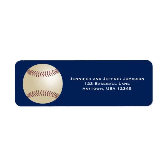 Etiquetas de endereço do remetente do basebol em