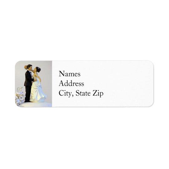 Etiquetas de endereço do remetente do casamento etiqueta endereço de retorno