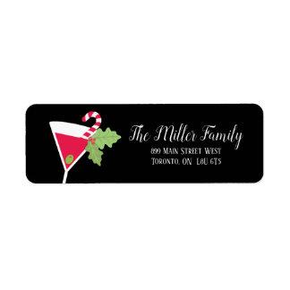Etiquetas de endereço do remetente do cocktail do