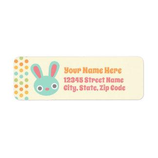 Etiquetas de endereço do remetente do coelho