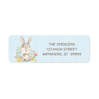 Etiquetas de endereço do remetente do coelho do