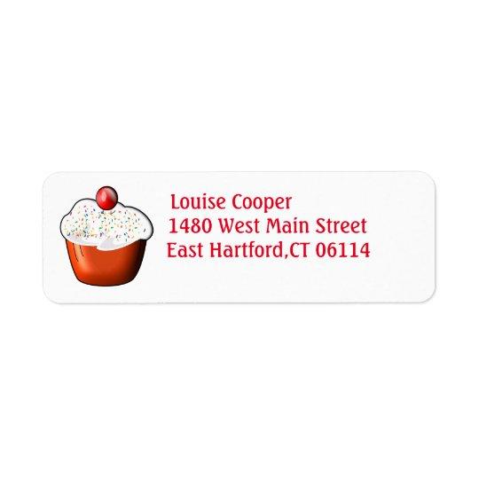 Etiquetas de endereço do remetente do cupcake