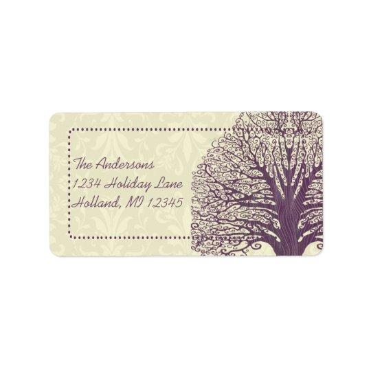 Etiquetas de endereço do remetente do damasco do etiqueta de endereço