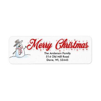 Etiquetas de endereço do remetente do Feliz Natal