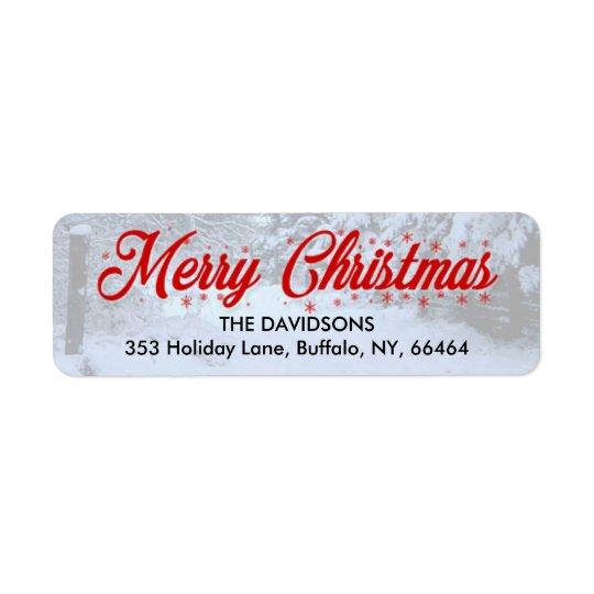 Etiquetas de endereço do remetente do Feliz Natal Etiqueta Endereço De Retorno