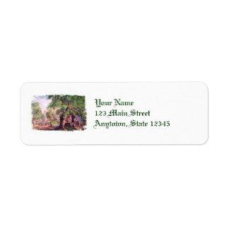 Etiquetas de endereço do remetente do ferreiro da