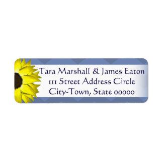Etiquetas de endereço do remetente do girassol etiqueta endereço de retorno