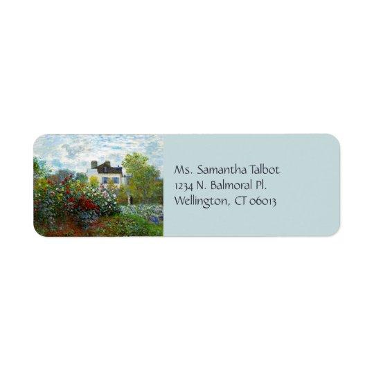 Etiquetas de endereço do remetente do jardim de um etiqueta endereço de retorno