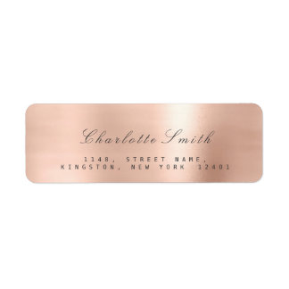 Etiquetas de endereço do remetente do Lux do rosa