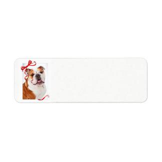 Etiquetas de endereço do remetente do Natal do