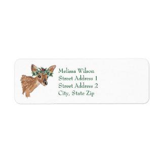 Etiquetas de endereço do remetente do Natal dos